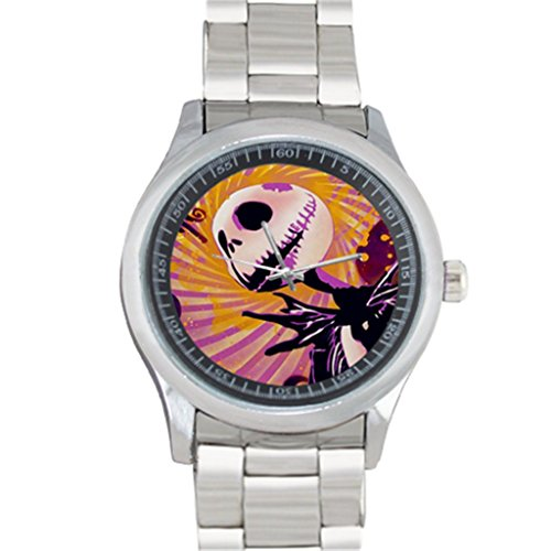 Art Designed Jack Skellington for 40mm Stainless Steel Watch Sports Wristwatch Metal Band