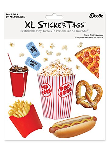 iDecoz Popcorn Reusable Vinyl Decal Stickers for All MacBooks, Laptops, iPads, Cars and More!