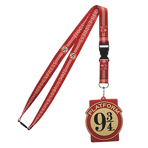 (Harry Potter Hogwarts Express Platform Nine and Three Quarters Breakaway Lanyard ID Badge Holder)