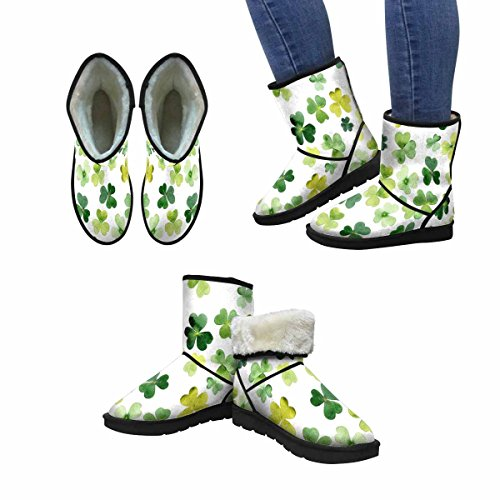 Scarponi Da Snow Da Donna Di Interestprint St Patricks Green Leaves Stivali Invernali Comfort Dal Design Unico Multi 1