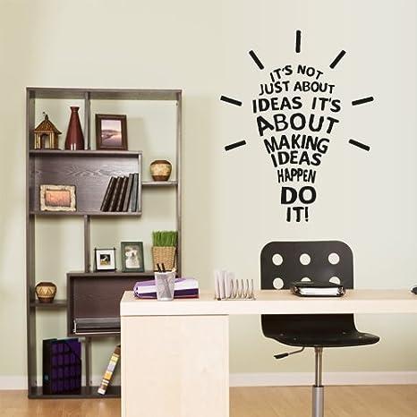 Amazon Com Wall Vinyl Sticker Decals Decor Art Kitchen Design Mural Words Sign Quote Lamp Ideas Happen Z2946 Home Kitchen