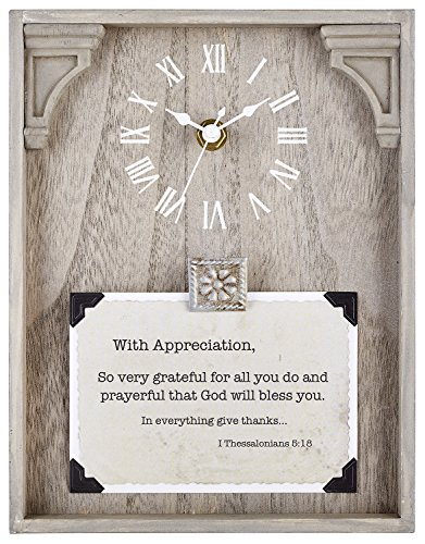 Clock Wood Tabletop (CB Gift Heartfelt Collection Framed Table Clock with Sentiment, 7