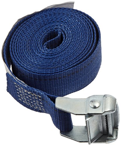 [Rack-Strap CS15-B10NH Polyester Webbing Cinch Strap with Zinc-Diecast Rust Proof Buckle, 500 lbs Capacity, 10' Length x 1-1/2