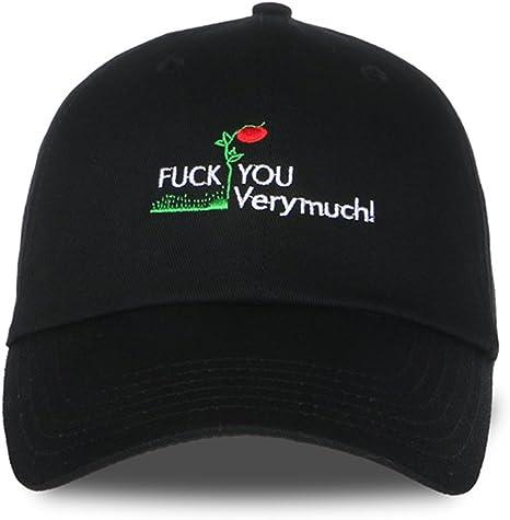 TYYIN Fuck-You-Very-Much Men Women Funny Denim Hat Adjustable Snapback Cowboy Cap
