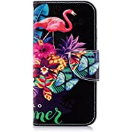 iPhone 7 / iPhone 8 Case, Lomogo Leather Wallet Case with Kickstand Card Holder Shockproof Flip Case Cover for Apple iPhone 7 / iPhone 8 (4.7-inch) - LOBFE11263#10