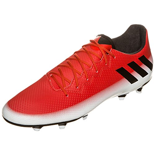 adidas Men's Messi 16.3 FG Soccer Shoe, Red/Black/White, (9 M US)