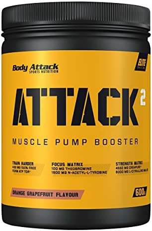 Body Attack ATTACK², Grapefruit, 600 g