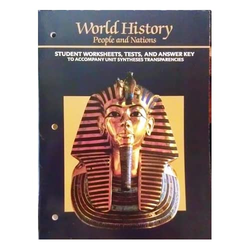 World History Student Worksheets, Tests, and Answer Key (World ...