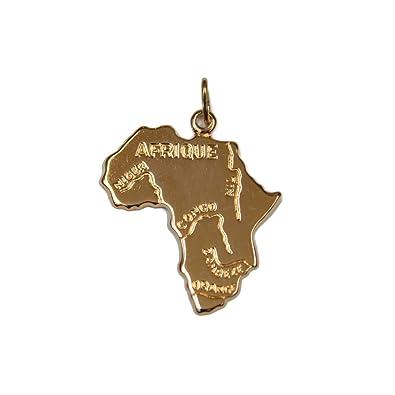 rougecaramel Bijoux - Colgante tarjeta de África en chapado ...