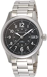 Hamilton Men's 'Khaki Field' Swiss Automatic Stainless Steel Dress Watch, Color:Silver-Toned (Model: H70595163)