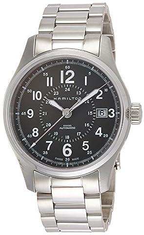 Hamilton Men's 'Khaki Field' Swiss Automatic Stainless Steel Dress Watch, Color:Silver-Toned (Model: (Hamilton Khaki Field Automatic)