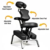 Ataraxia Deluxe Portable Folding Massage Chair w/Carry Case &...