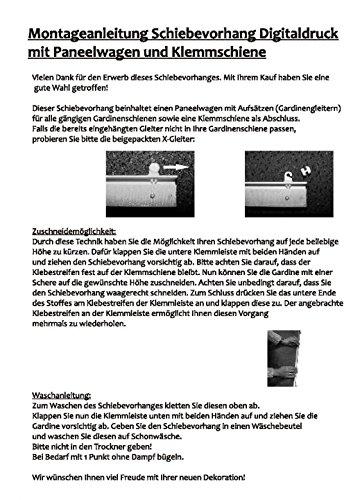 H/öhe 245 cm 3X Dessin Petrol // 2X Uni wei/ß halbtransparent Deko Blickdicht Arlena wohnfuehlidee 5er-Set Fl/ächenvorhang