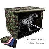 S-Lifeeling Pet Waterproof Dog Kennel Covers Dog Cage Crate Sun Protection Pet Crate Cover House Bed Durable Crate Cover Indoor/Outdoor Exclude The Dog Cage