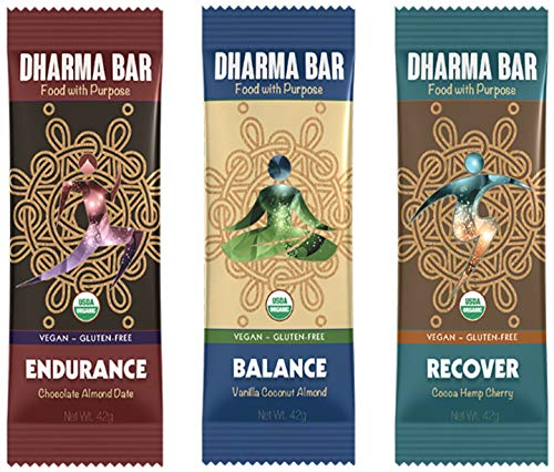 Dharma Bar – Food with Purpose Energy & Endurance Bars Variety Pack (12 Count)