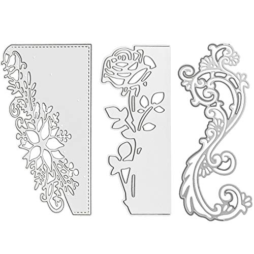 - Cutting Dies for Card Making Metal Cut Dies 3D Stencil Mould Nesting Template for DIY Decorative Embossing Photo Scrapbook Album Paper Letter Craft Compatible Die Cutting Machine (Lace Flower-3Pcs)
