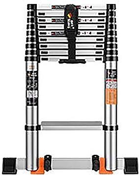 AFDK Escaleras Telescópicas de Aluminio Pasos Extensibles con Ruedas, Escalera Recta Plegable para Loft Interior Exterior, Capacidad 330Lb,3.9m / 12.8ft: Amazon.es: Bricolaje y herramientas