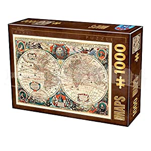 D Toys Puzzle 75710vm 01 1000 Pezzi Vintage Map
