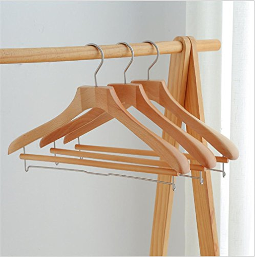 Dbtxwd Hangers Men's Suit adult Wood Hanger Clothes hanging clothes pole Non-slip Durable Shirt/Blouse Hangers Household wardrobe,44.5304.5cm , A , 15 by Dbtxwd