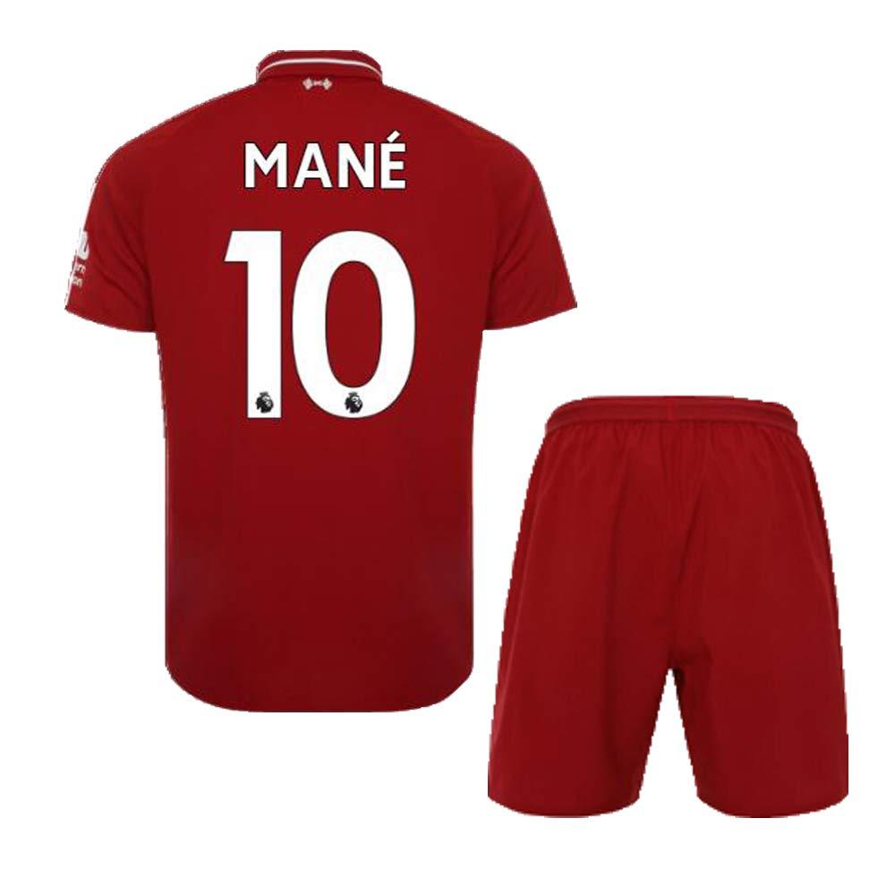 f9c3dfa32cf Amazon.com: FC FirstClass 2019 Football Soccer Kids Home Kit Red Jersey &  Shorts &Socks &Ice Face Cloth 3-12 Years Sportwear Suit: Sports & Outdoors