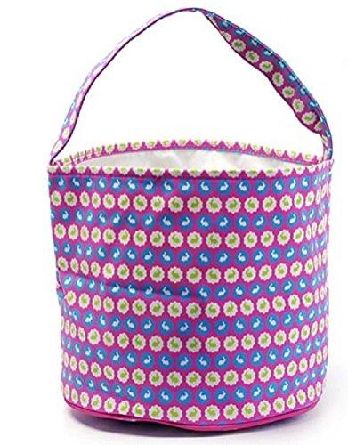 Easter Egg Hunt Basket Bag - Childs Reusable Bucket Baskets