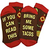 Haluoo If You Can Read This Bring Me Socks Novelty Funny Saying Combed Cotton Crew Dress Beer Bacon Taco Tea Socks, Gift for Men Women