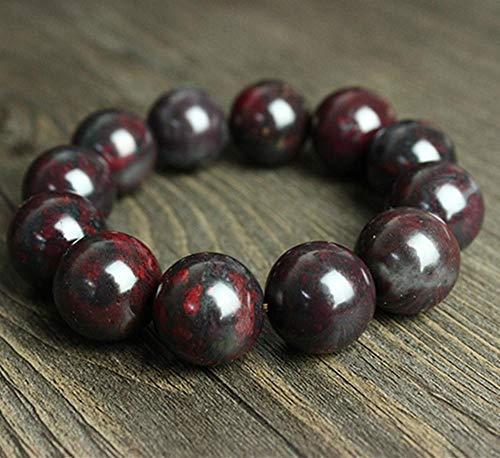 Liudaye Bloodstone Beads Bracelet Men and Women Gifts ()