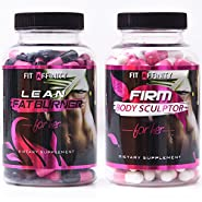 FIT AFFINITY: Lean & Sculpted Bundle - Fat Burner for Women • Best All Natural Weight Loss Pills - Thermogenic Fat Loss Supplement & Appetite Suppressant Diet Pills - 90 Capsules (Each Bottle)