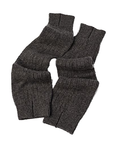 Cashmere Boutique: 100% Pure Cashmere Leg Warmers (Color: Charcoal Gray, Size: One Size)
