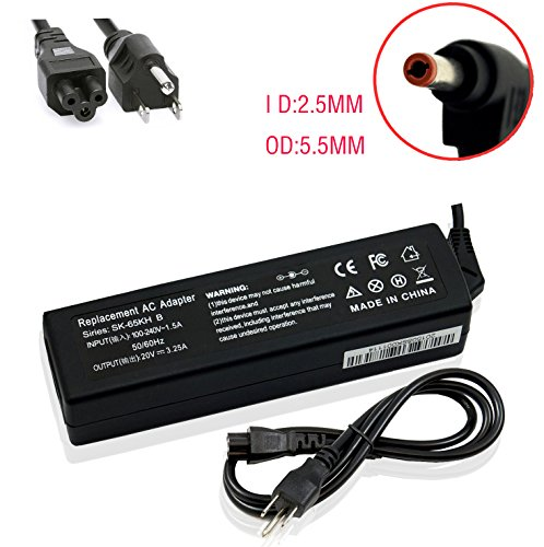Novelty 20V 3.25A 65W AC Power supply Charger Adapter For IBM Lenovo IdeaPad Z570 Z560 G580 Z575 Z565 M30-70 B560 B570-1068B3U,CPA-A065 PA-1650-56LC ADP-65KH B PA-1650-37LC (Lenovo Ideapad Battery U310)
