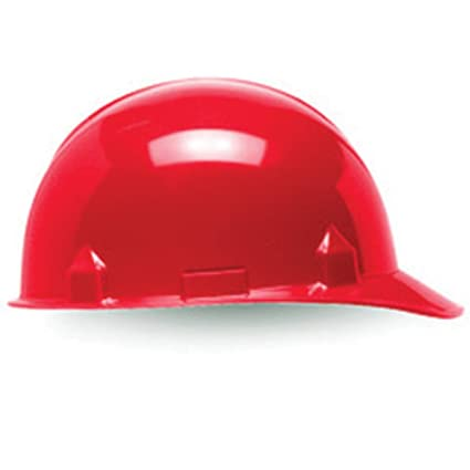 2e87c4fe7a7 Kimberly-Clark Professional Red Jackson Safety SC-6 HDPE Cap Style Slotted  Hard Hat With 4 Point Ratchet Suspension-1 Each - - Amazon.com