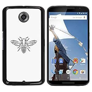 YOYOYO Smartphone Protección Defender Duro Negro Funda Imagen Diseño Carcasa Tapa Case Skin Cover Para Motorola NEXUS 6 X Moto X Pro - una abeja círculo cobre