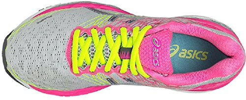 Scarpe Pink hot Running Gel 18 titanium Silver Donna Asics nimbus qxz6wfpgt