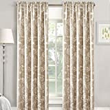Home Soft Things Serenta La Boheme Printed Curtain, Taupe, 60″ x 84″ Review