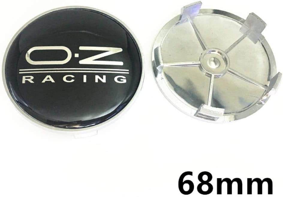 4pcs 65 mm 68 mm Unidades de Cubo de Rueda del Casquillo del Centro de la Insignia del Logotipo del Emblema Etiqueta engomada para la Labra los Accesorios O.Z OZ Racing Lamer Cobertura de.