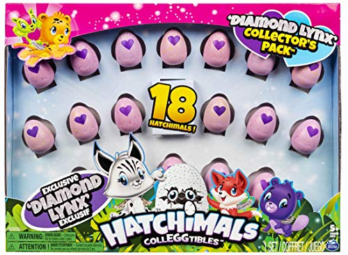 Hatchimals Diamond Lynx Collector's Pack, 18 Pack
