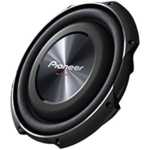 "PIONEER TS-SW3002S4 12"" 1,500-Watt Shallow-Mount Subwoofer with Single 4ohm Voice Coil"