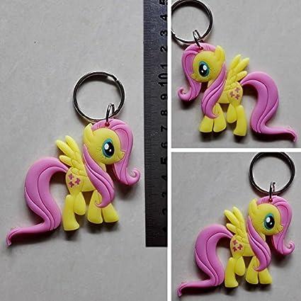 Cartoon My Little Pony Fluttershy logotipo amarillo 8 cm ...