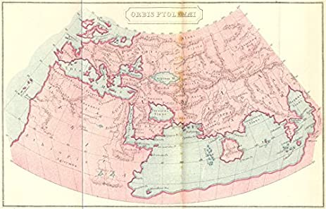 Amazon world orbis ptolemaei ancient world map 1908 old orbis ptolemaei ancient world map 1908 old map antique map gumiabroncs Choice Image