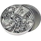 Let's Cook Cookware Mini - Set da 24 tagliabiscotti, 8 modelli in 3 dimensioni