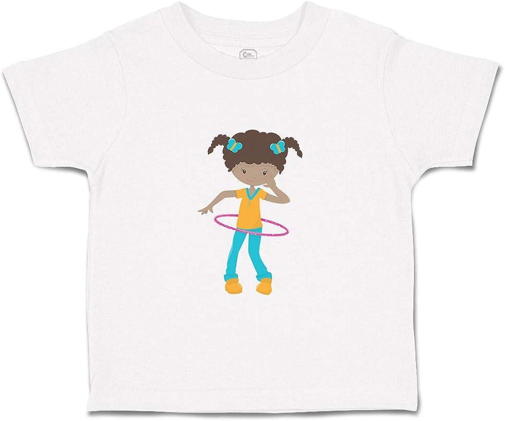 Custom Baby /& Toddler T-Shirt Girl Hoop B Cotton Boy Girl Clothes