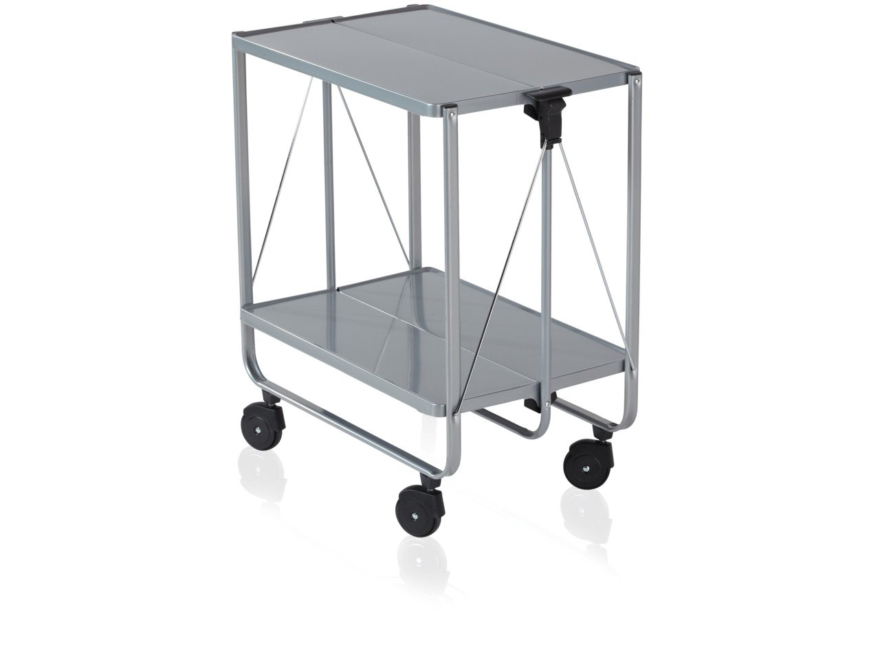 Leifheit Side Car Collapsible Serving and Equipment Trolley - Silver 74291