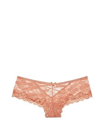 0df0e252a10c0 Victoria's Secret Very Sexy Strappy Lace Cheeky Panty Pink Copper ...