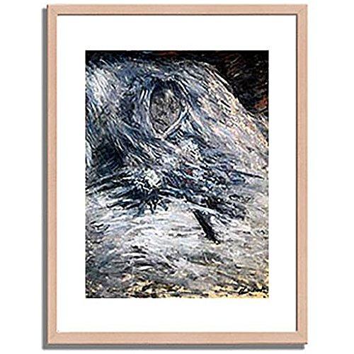 クロードモネ「死の床のカミーユ Camille Monet auf dem Totenbett 1879 」 インテリア アート 絵画 プリント 額装作品 フレーム:木製(白木) サイズ:S (221mm X 272mm) B00N6EWIXY 1.S (221mm X 272mm)|2.フレーム:木製(白木) 2.フレーム:木製(白木) 1.S (221mm X 272mm)