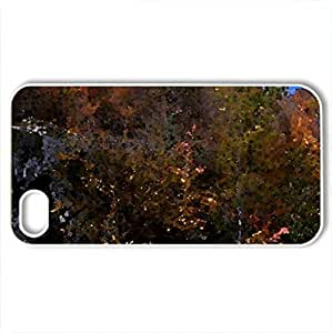 Autumn On A Rock Cut - Case Cover for iPhone 4 and 4s (Watercolor style, White)