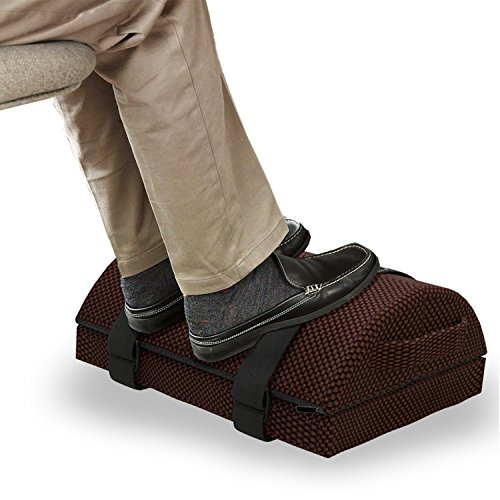 Urbo Ergonomic Foot-Rest for Under Desk Relief in Office/Home - Perfect for Sore Feet, Arch/Joint Support, Pain Reduction, Improved Posture/Circulation, Reduces Deep Vein Thrombosis and Sciatica by Urbo