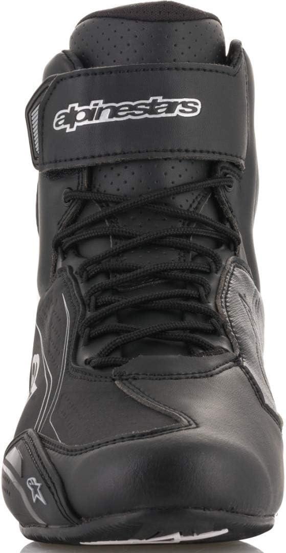 7.5 Alpinestars Womens Stella Faster-3 Motorcycle Shoes Black//Gray//Ocean