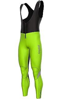 Zimco Mens Padded Thermal Cycling Bibs Tight Cycling Bibs Long Pants