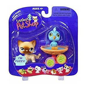 Amazon.com: Littlest Pet Shop Pet Pairs > Blue Bird & Cat