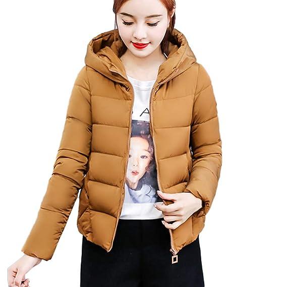 Yvelands Invierno Mujer Abrigo Cálido Faux Fur con Capucha Gruesa Outwear Chaqueta Delgada Corto Abrigo Top